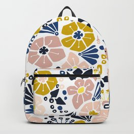 Wellness garden – florals matching to design for a happy life Backpack