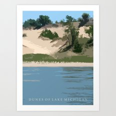Dunes of Lake Michigan Art Print