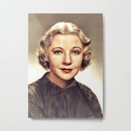 Una Merkel, Vintage Actress Metal Print