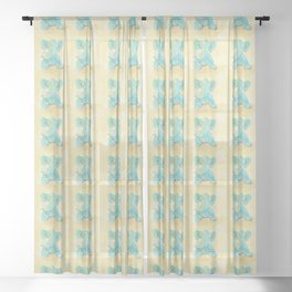 Cute elephant and mouse Sheer Curtain