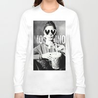 moschino Long Sleeve T-shirts featuring Moschino Glasses by Claudio Velázquez