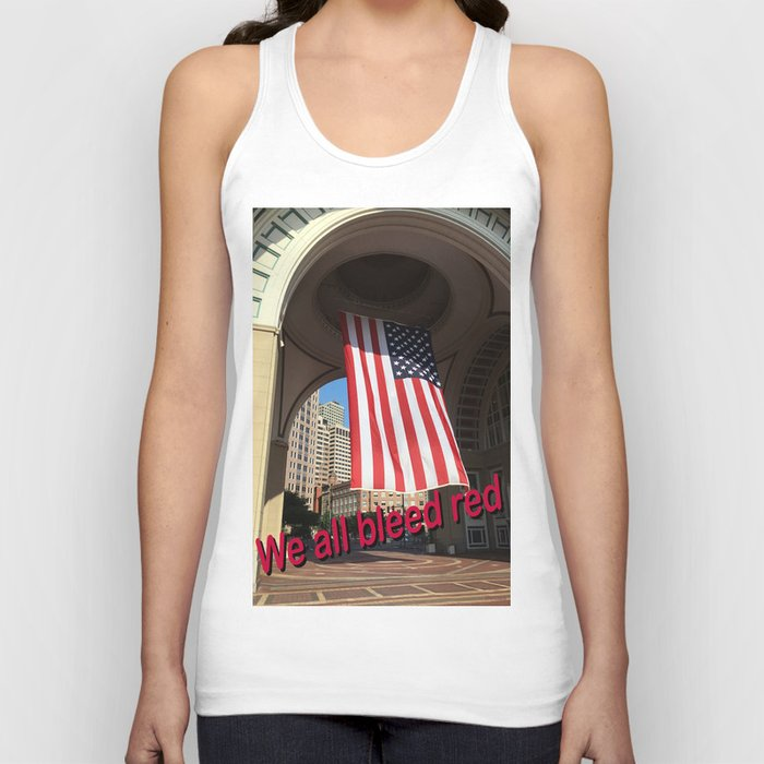 We all bleed red Unisex Tank Top