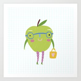 Little Miss Apple Art Print