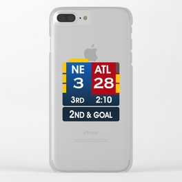 Falcons Lead 28-3 Clear iPhone Case