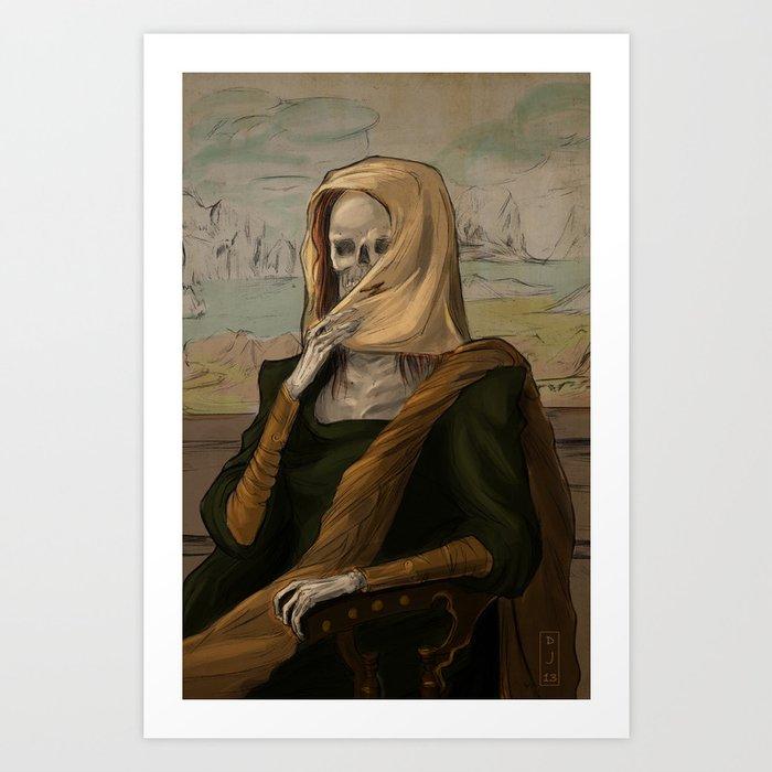 Death like Smile Art Print