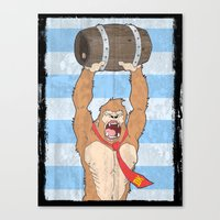 donkey kong Canvas Prints featuring Donkey Kong by William Davies
