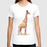 giraffe T-shirts featuring Fashionable Giraffe by Terry Fan