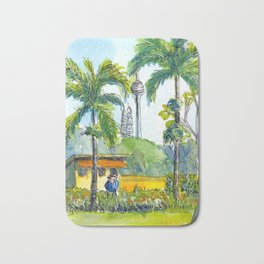 View from orchid garden in KL, Malaysia Bath Mat