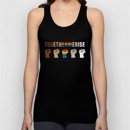 Black Lives Matter Together We Rise Equality Shirt Unisex Tank Top