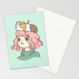 Guinea Pig Lady Stationery Cards