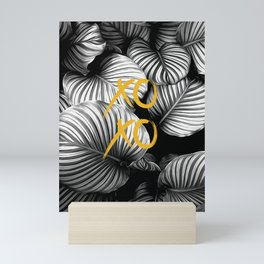 Xoxo nature gold and black white Mini Art Print