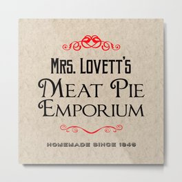 Mrs. Lovett's Meat Pie Emporium (Sweeney Todd) Metal Print