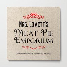 Mrs. Lovett's Meat Pie Emporium (Sweeney Todd) Metal Print