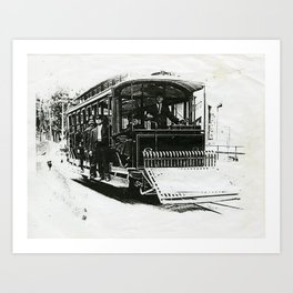 Trolley Car Art Print