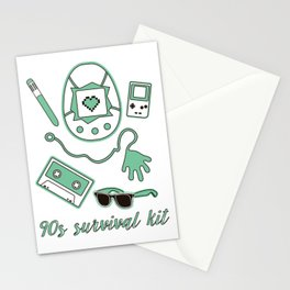 90s survival kit Stationery Cards