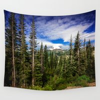 the national Wall Tapestries featuring Mt Rainier National Park by JMcCool