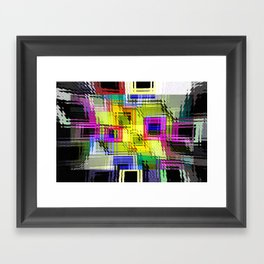 Cubism interdimensional. Framed Art Print