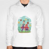 luigi Hoodies featuring Mario and Luigi! by Felo