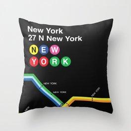 New York, New York Throw Pillow