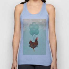 Chickens can't fly 02 Unisex Tank Top