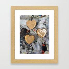 Abstract Hearts Framed Art Print