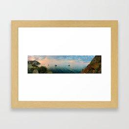 Hamilton Cove, Catalina Island Framed Art Print