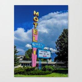 The Blue Sky Motel, Vintage Motel Signs, Bozeman, Montana Canvas Print