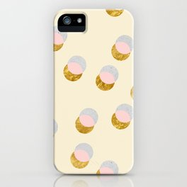 Gold and Pastel iPhone Case