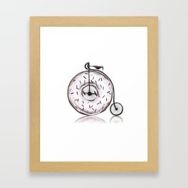 Donut Ride My Bicycle Framed Art Print