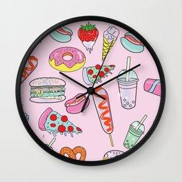 Pastel Junk Food Wall Clock