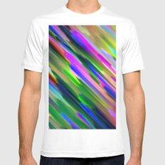 Colorful digital art splashing G487 MEDIUM Mens Fitted Tee White