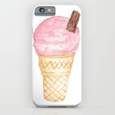 Watercolour Illustrated Ice Cream - Berries on Ice iPhone 6 Slim Case