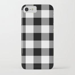 Black and White Buffalo Plaid iPhone Case