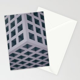 3D Grid Stationery Cards