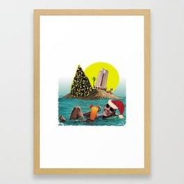 Christmas on the island Framed Art Print