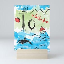 City scape - Seattle, Washington Mini Art Print