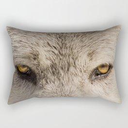 Wolf Eyes Wildlife Photography - Animal Nature Photo Rectangular Pillow