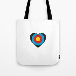 Heart Target Archery Tote Bag