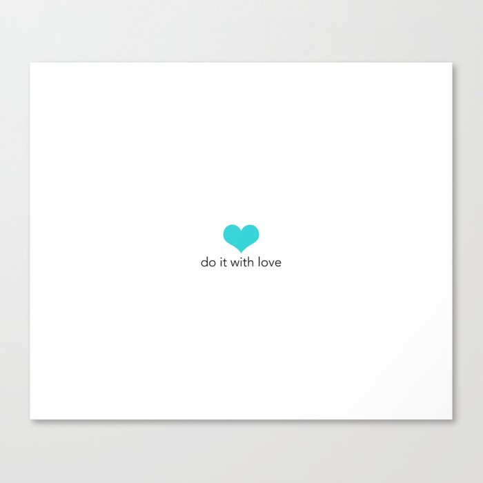 Do it with love Canvas Print