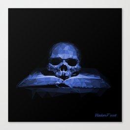 Memento mori - abyss blue Canvas Print