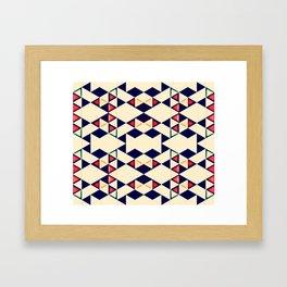 Triangles::Yellowed Framed Art Print
