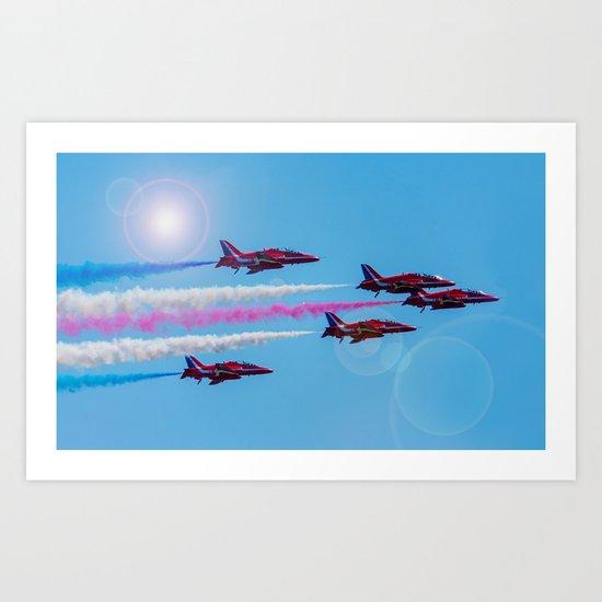 ARROWS IN FLIGHT Art Print