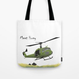 Huey Helicopter in Vietnam Tote Bag