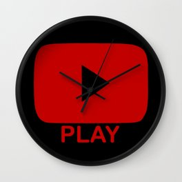 Play Button Wall Clock