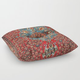 Bidjar Antique Kurdish Northwest Persian Rug Print Floor Pillow