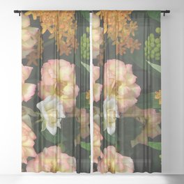 Garden Beauties Sheer Curtain