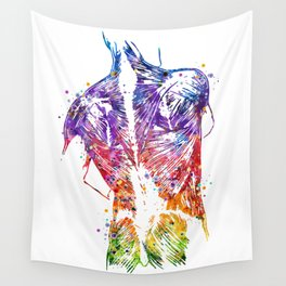 Anatomy of the Human Back With Muscles Wall Tapestry