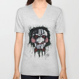 The Horror of Jigsaw Unisex V-Neck