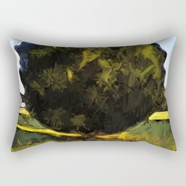 Tree of Green in the Morning Sun Rectangular Pillow