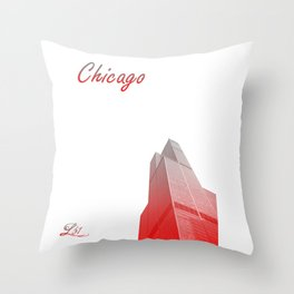 Cities Of America: Chicago Throw Pillow